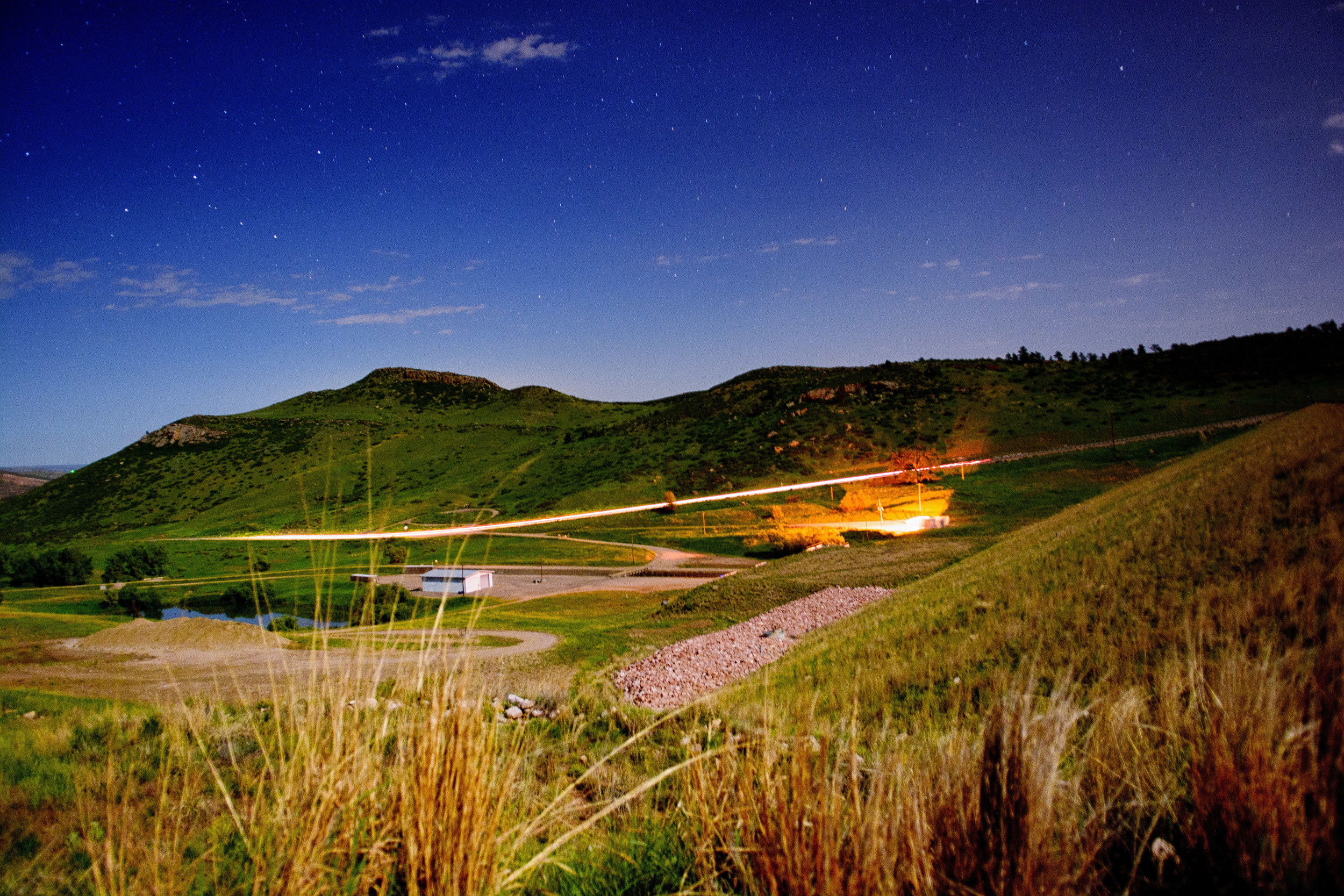 6-15 Photo: Looking back towards Fort Collins, at little night long exposure