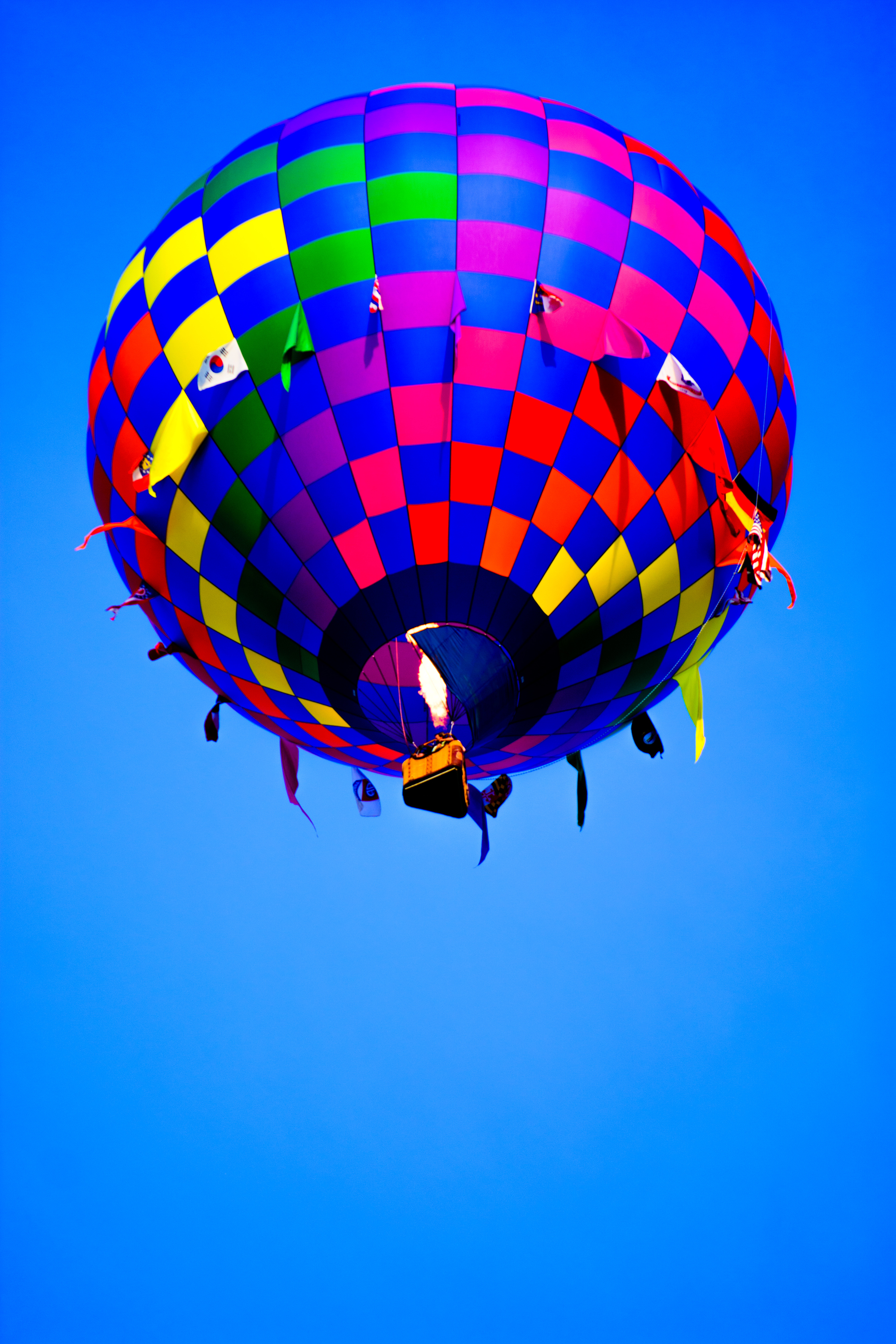 6/19: Hot air balloon on its journey wherever the wind blows