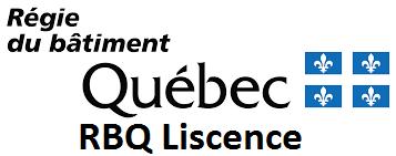 Régie du Bâtiment du Québec - RBQ Liscence