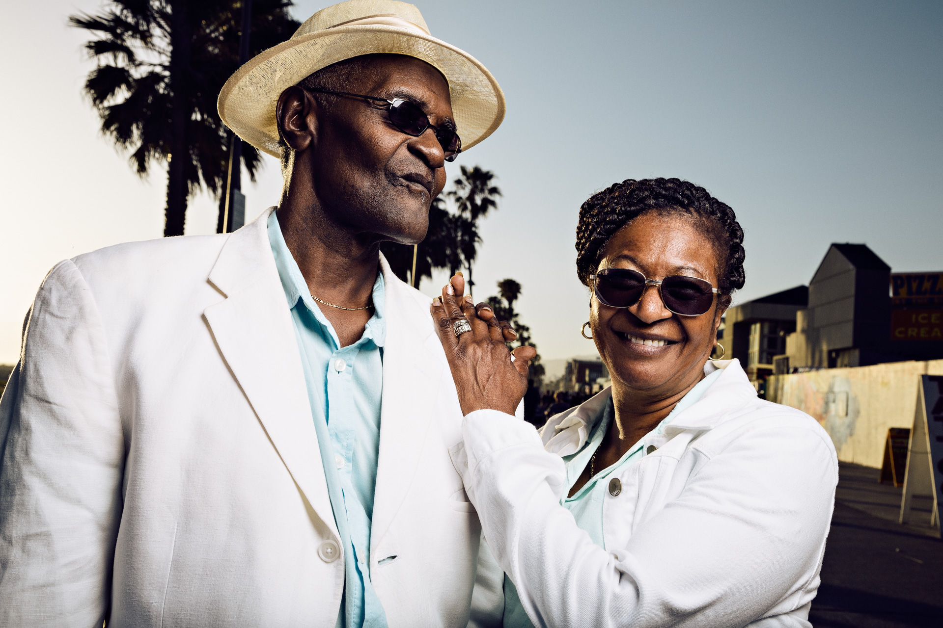 Larry and his wife Ella, Venice Beach