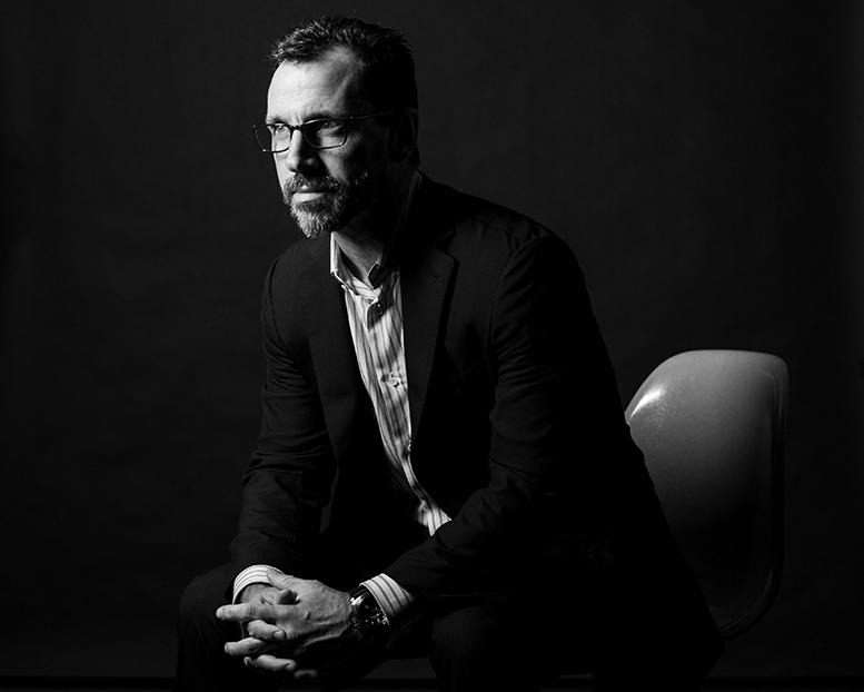 Black and white corporate portrait photography by New York corporate photographer Michael Benabib.jpg