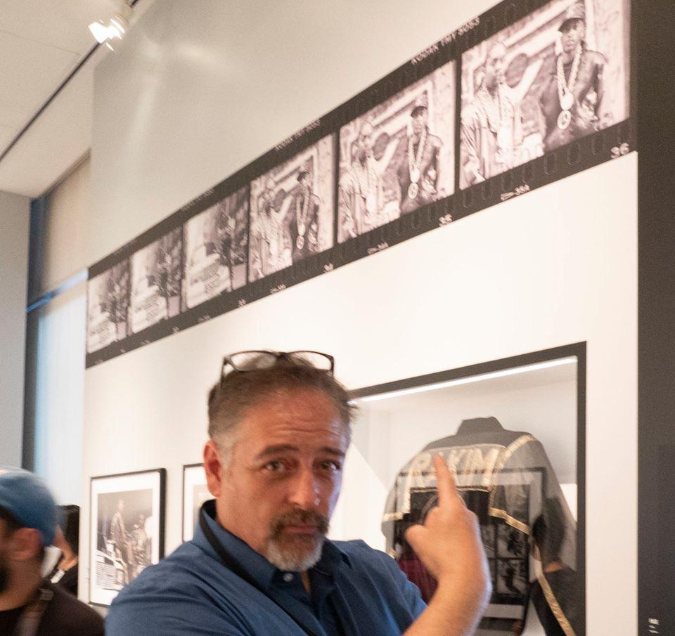 Michael Benabib's Rakim photography display