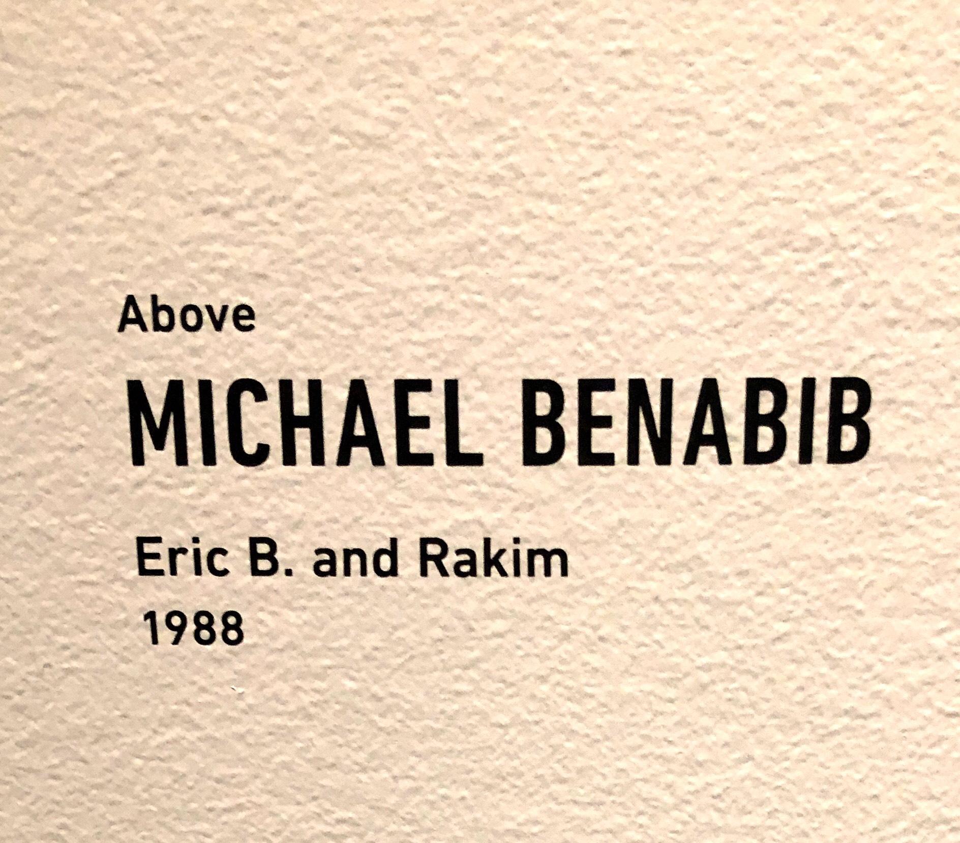 Michael Benabib title card for Eric B Rakim display