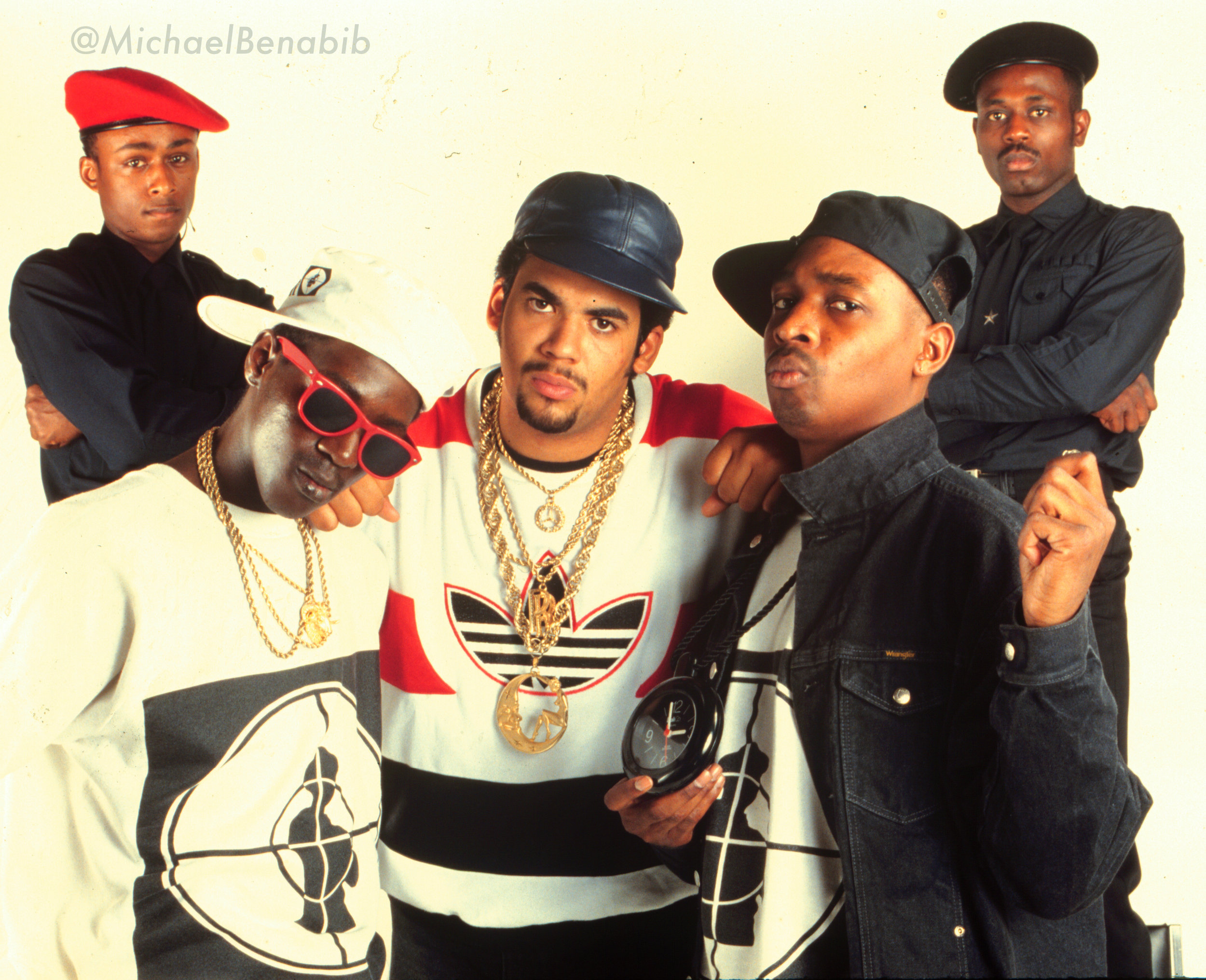 I photographed Public Enemy in 1987 when they first started out. This is the only photo you'll see with Chuck D wearing the clock before it became Flavor Flav's trademark. Happy belated birthday to Chuck D
