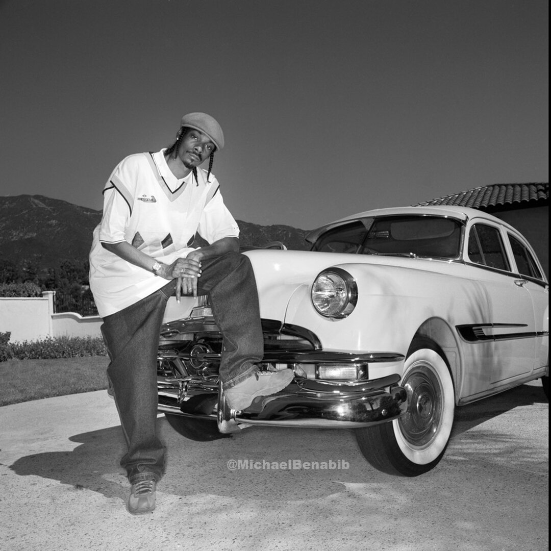 Snoop Dogg with his Classic Car