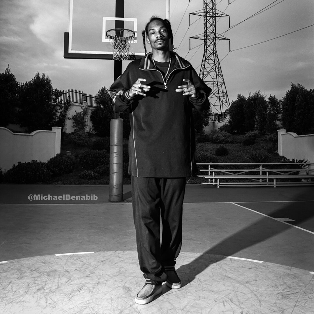 Snoop Dogg at his home Basketball Court in Los Angeles