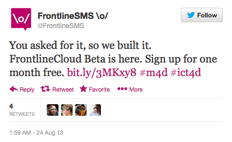 A tweet saying 'you asked for it, so we built it'
