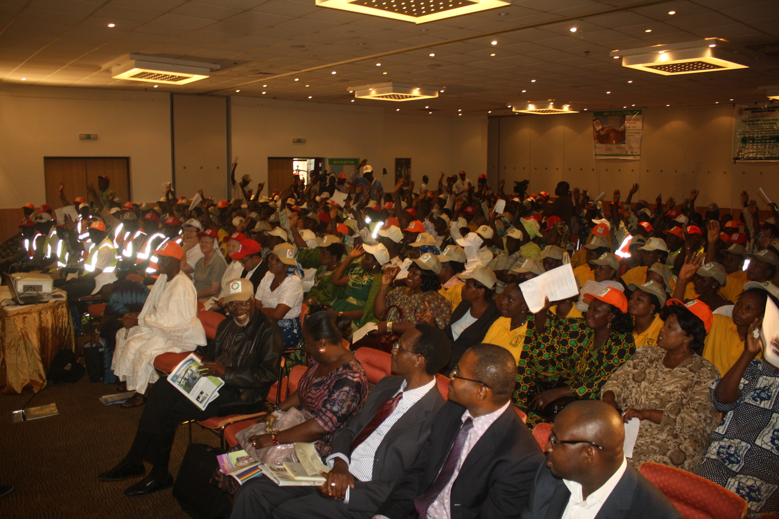 Audience at a ReclaimNaija public presentation (Copyright: Community Life Project)