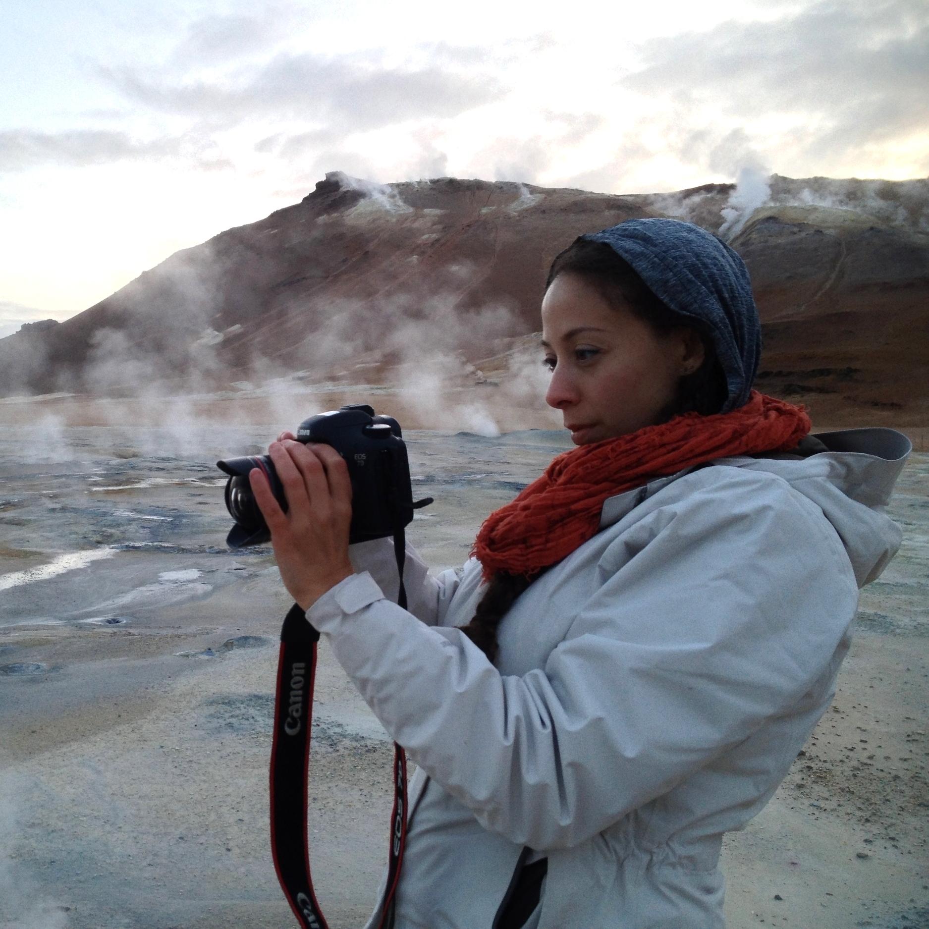 NASA Cinematographer Nasreen Alkhateeb capturing sulphuric landscape in Iceland