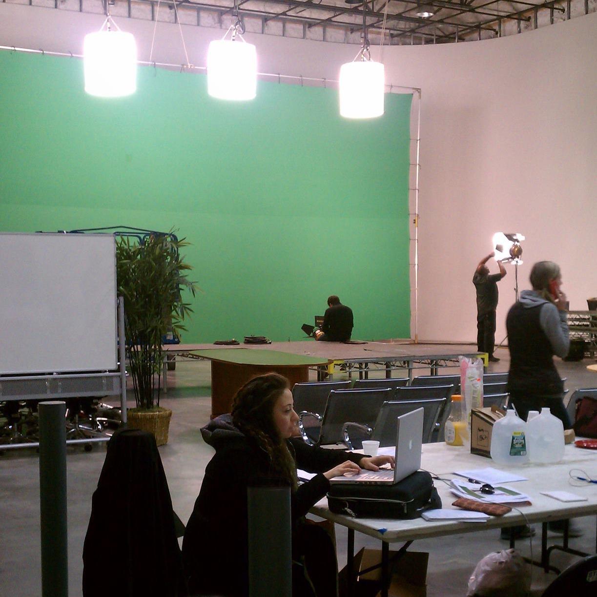 Nasreen Alkhateeb producing at Steiner Studios in Brooklyn, New York