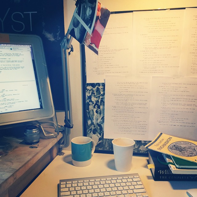 Lukas' official #Tryst desk. Working hard on the #trystmovie