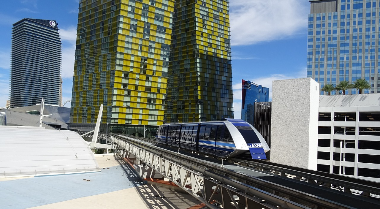 Monorail that links Bellagio to Aria and City Centre
