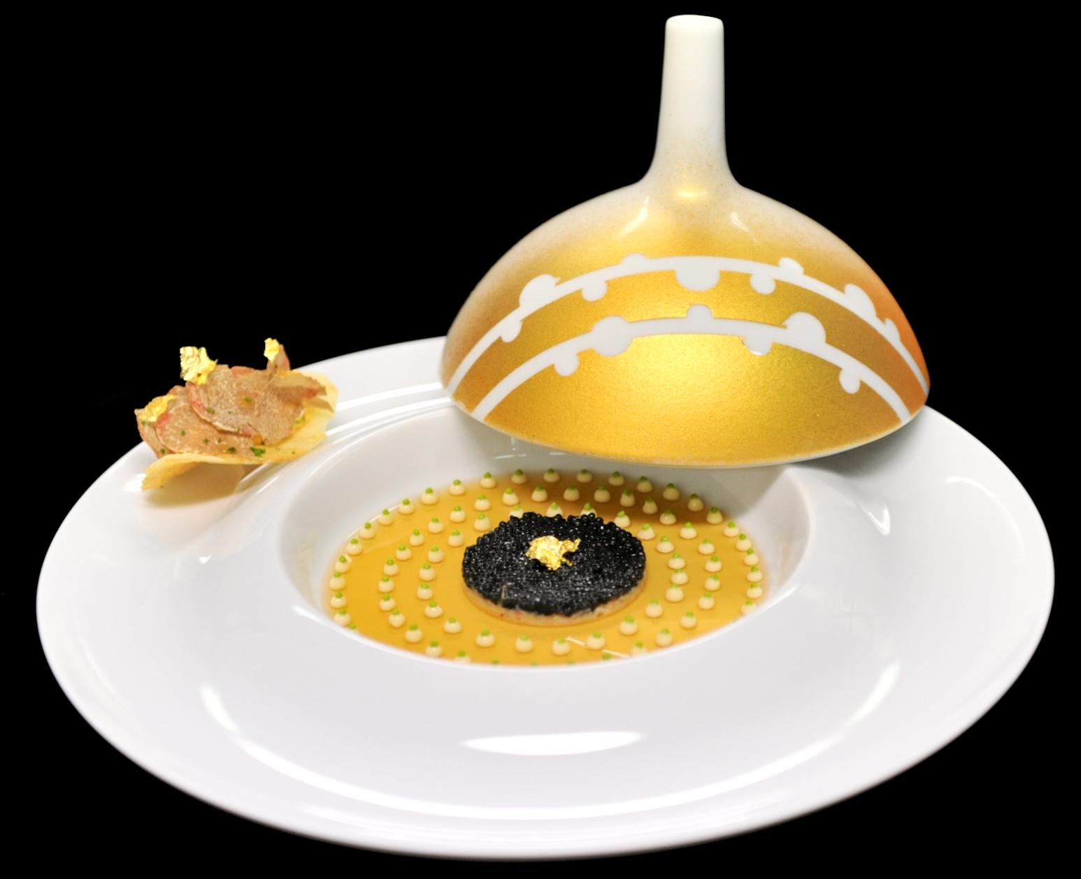 Beautiful presentation of caviar