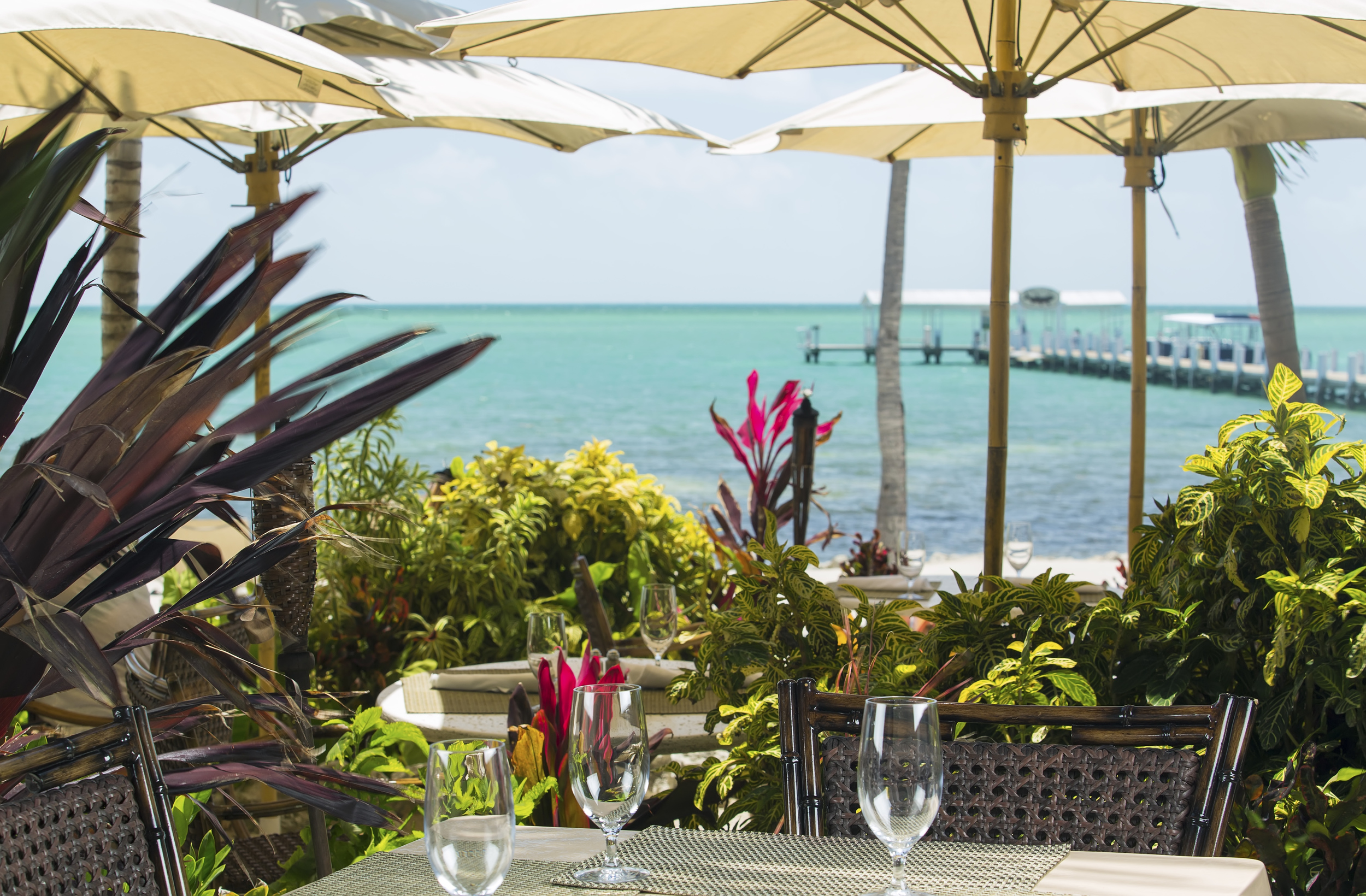 Dining by the pier  ~P  hotoog H courtesy of Cheeca Lodge & Spa