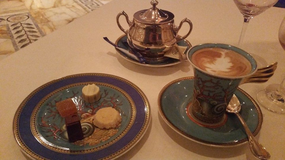 Petite fours and coffee