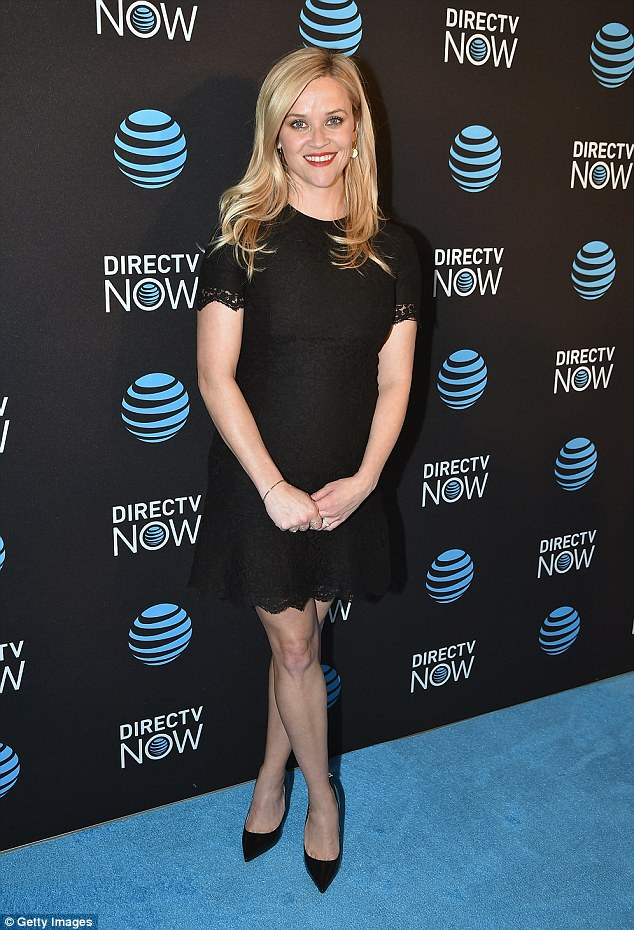 Reese Witherspoon Nov 29th at the DirecTV Now launch in NYC.
