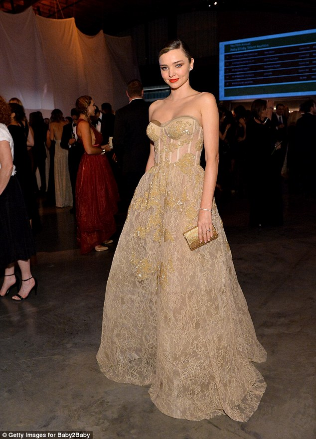Miranda Kerr's Reem Acra tulle dress at the Baby2Baby Gala