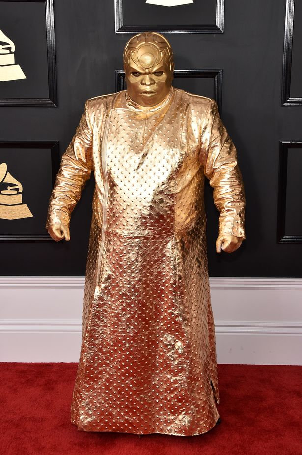 Cee-Lo Green hits all the wrong notes in this costume at the Grammy Awards