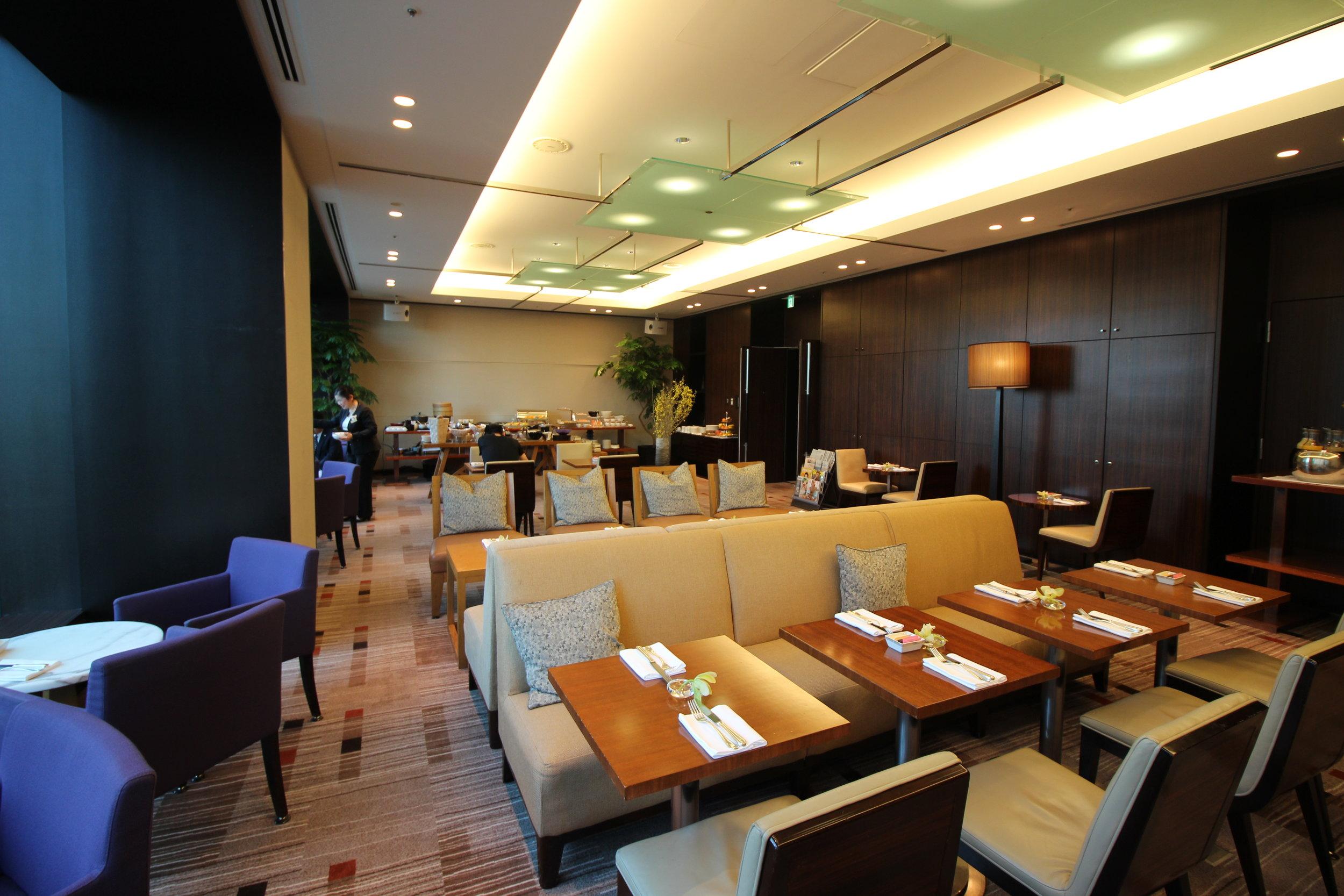 Make-shift executive lounge