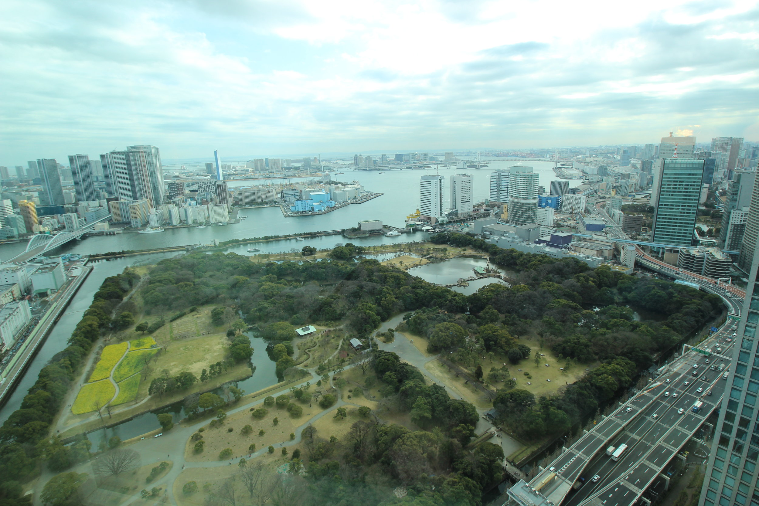View of Tokyo Bay from my room
