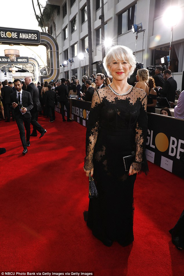 Helen Mirren in Harry Winston diamonds.