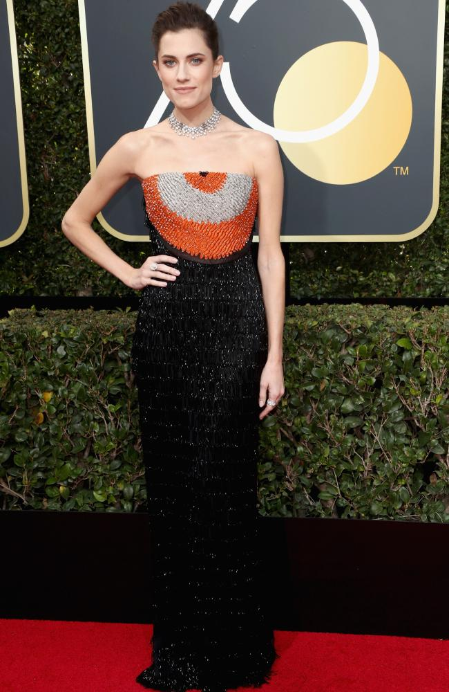 Allison Williams in Armani Prive