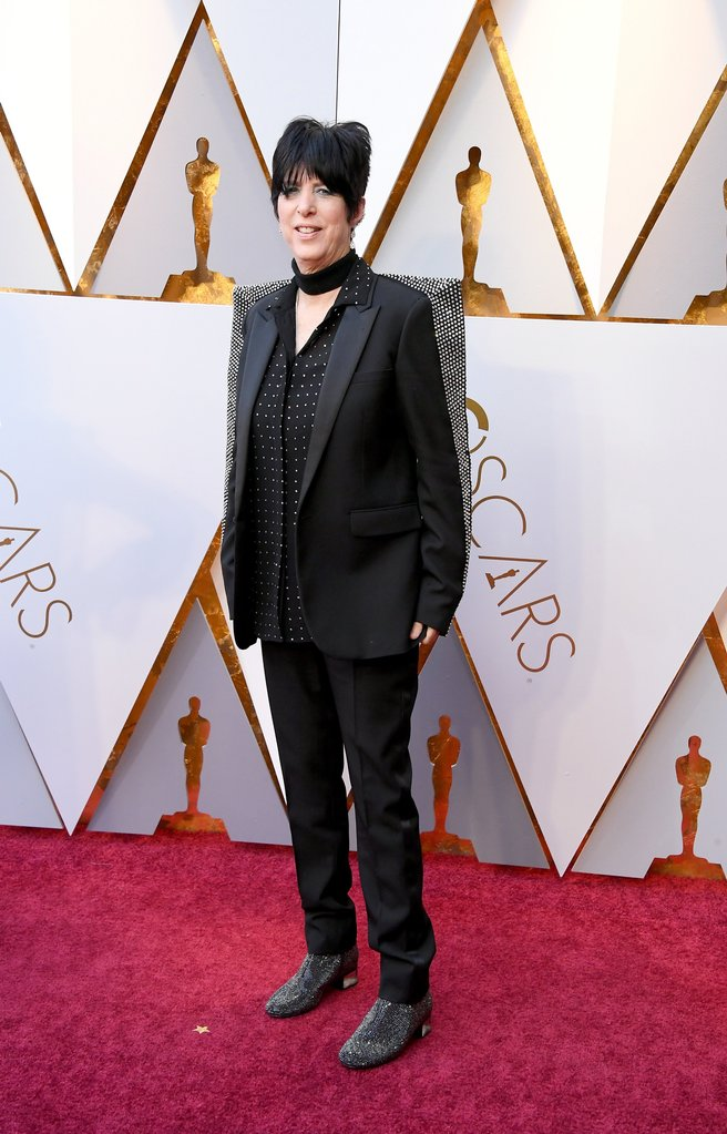 Diane Warren in Saint Laurent