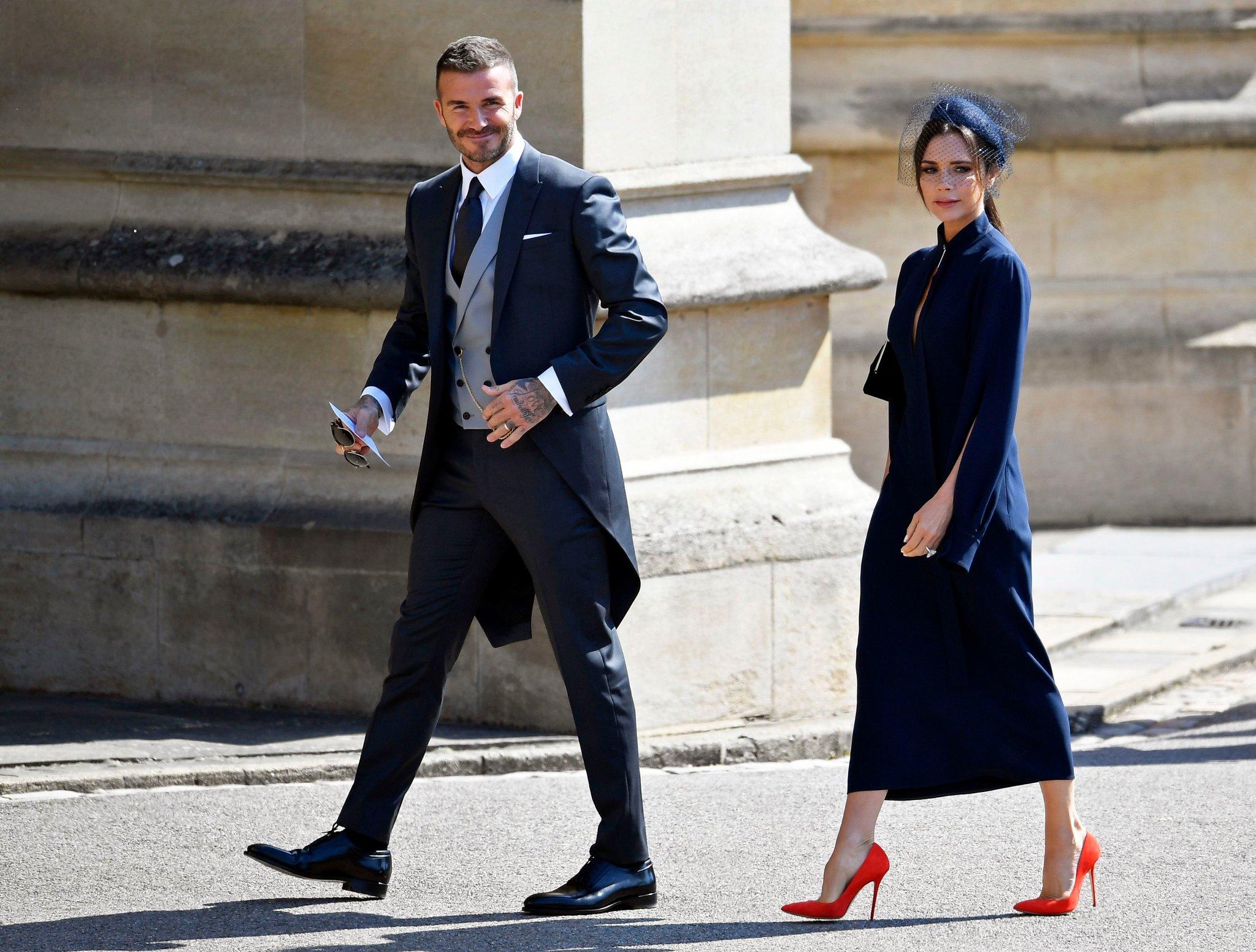 David Beckham in Dior Homme & Victoria Beckham in Victoria Beckham