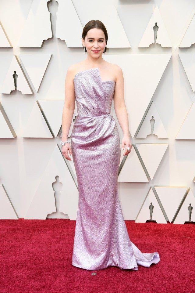 Emilia Clarke in Balmain