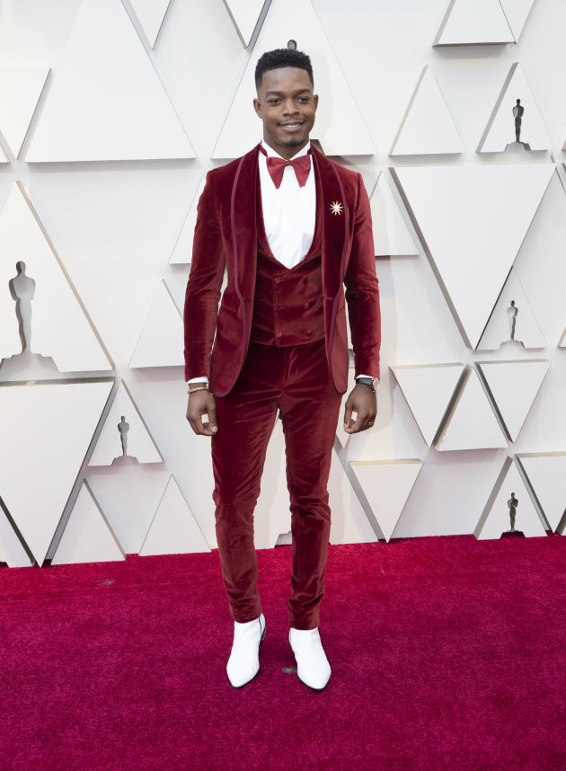 Stephan James in custom Etro