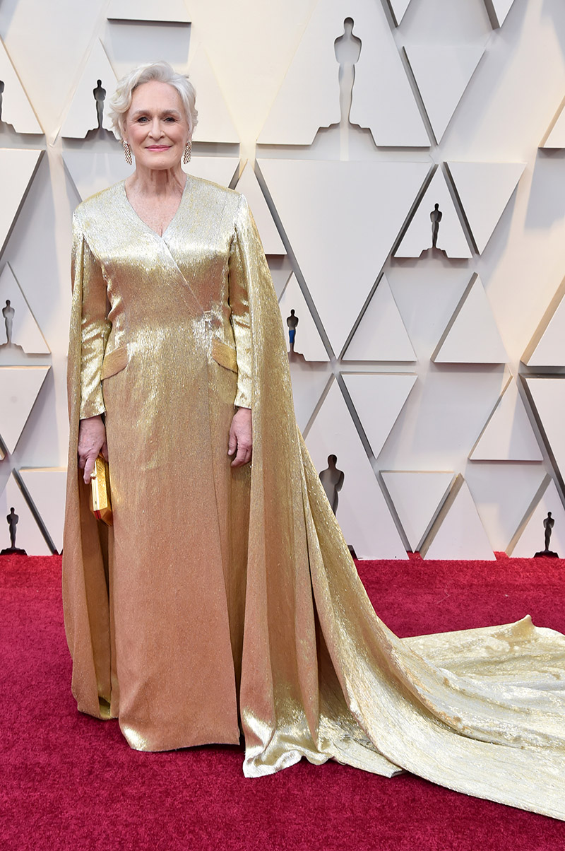 Glenn Close in Carolina Herrera