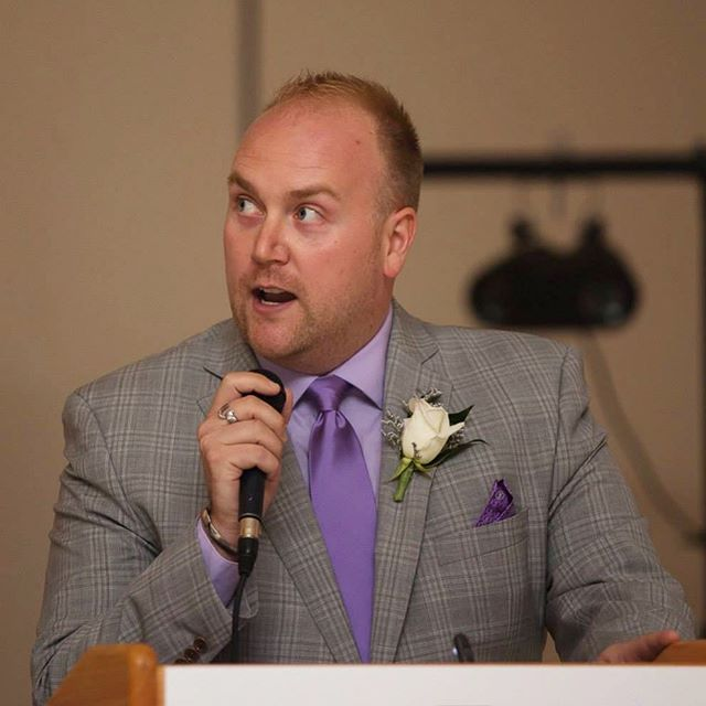 Throwback to that one time someone trusted me with a microphone #spoiledsplendid #tbt #emcee #wedding #poems #love #suit #purple #speak #life #throwback