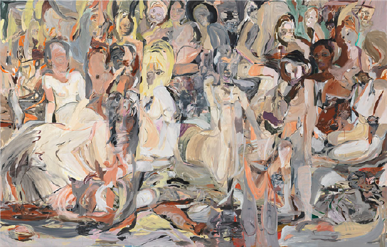 Cecily Brown, Untitled (Blood Thicker Than Mud)  , 2012   Oil on linen   109 x 171 inches(276.9 x 434.3 cm)