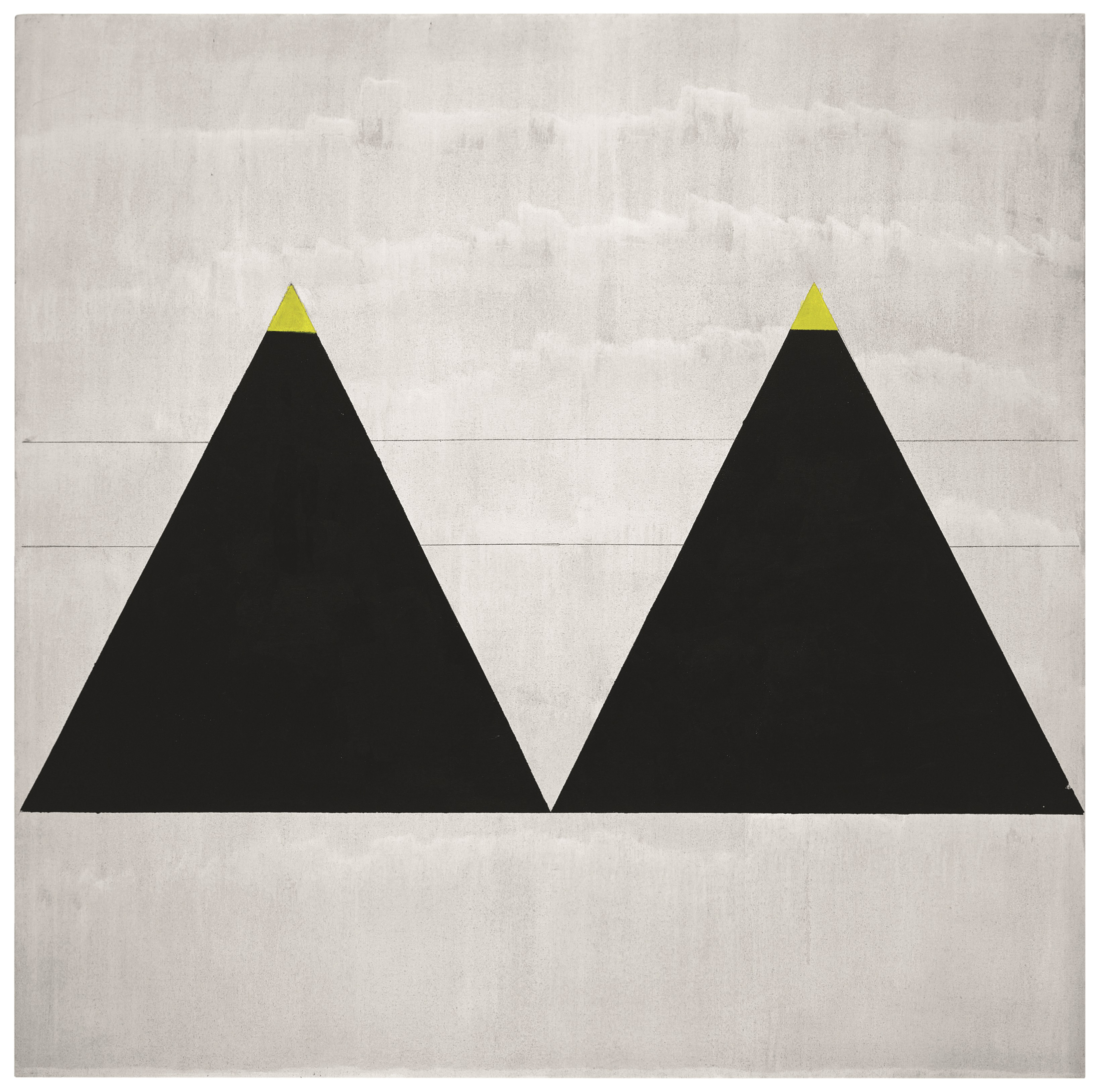 """the mountain-like triangles are more like 'pictures' than anything she had done since the 1950s"""