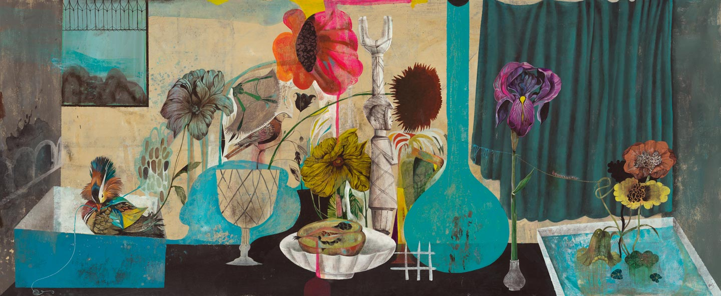 Still Life, 2013, Acrylic on board, 70 x 170cm