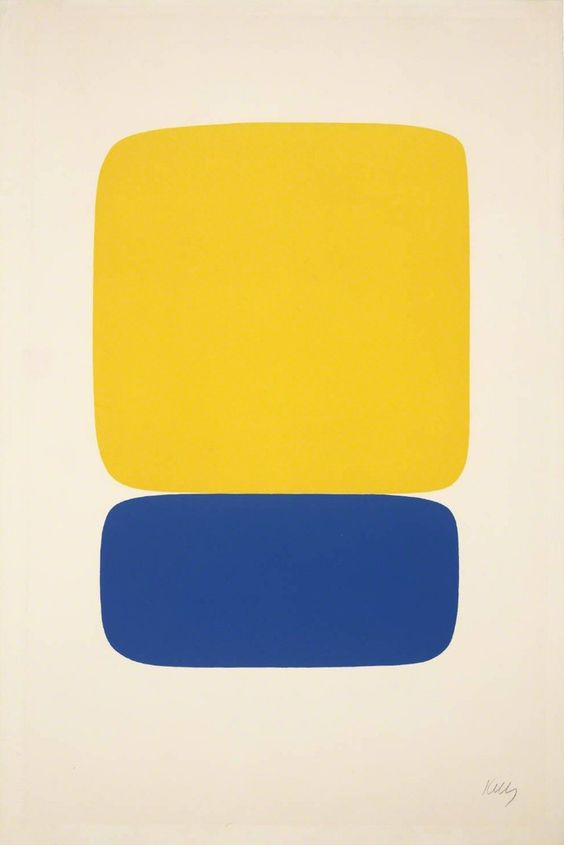 Ellsworth Kelly  1964-5, Lithograph on Paper, 90 x 60 cm  Viewed by Appointment at  The  Tate