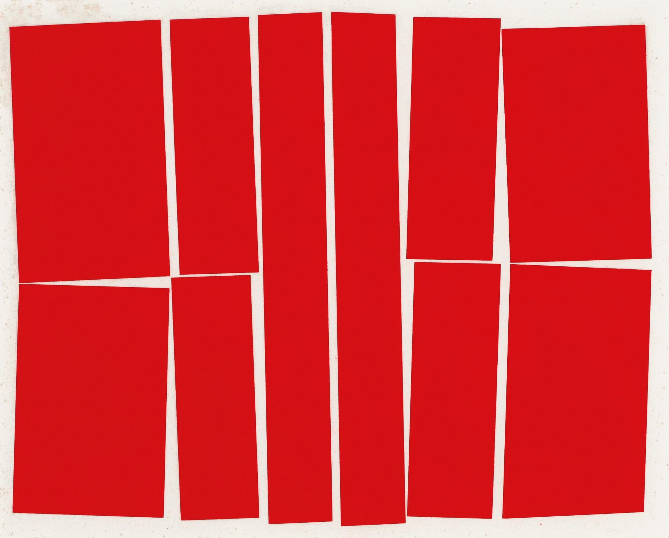 "Metaesquema 354, Gouache on Paper, 20.3"" x 18.1"""