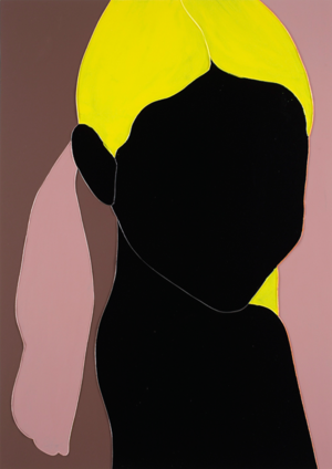 "Gary Hume  2009, High gloss enamel house paint on aluminum panel, 55"" x 39"""