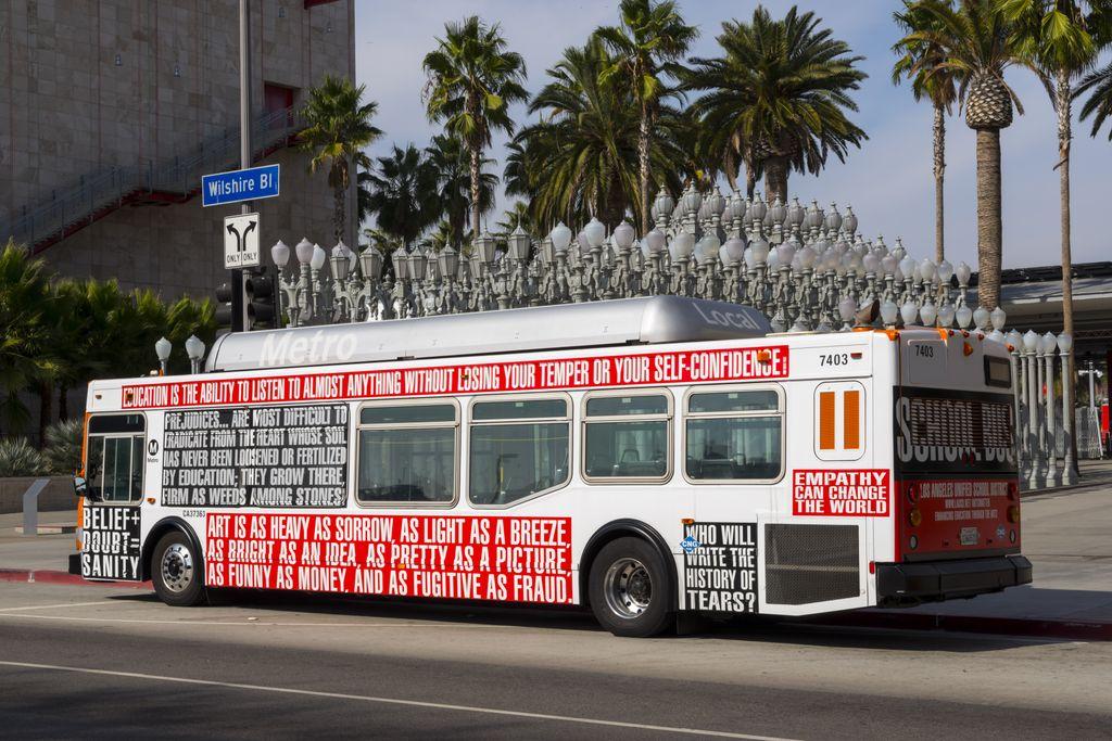Barbara Kruger Bus, LA Art Fund 2012 via Public Delivery