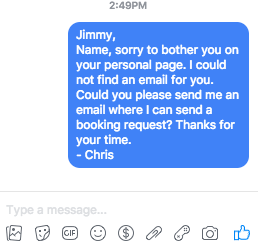 How to send a message on Facebook