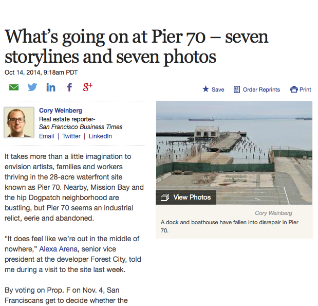 What's going on at pier 70 - October 14, 2014