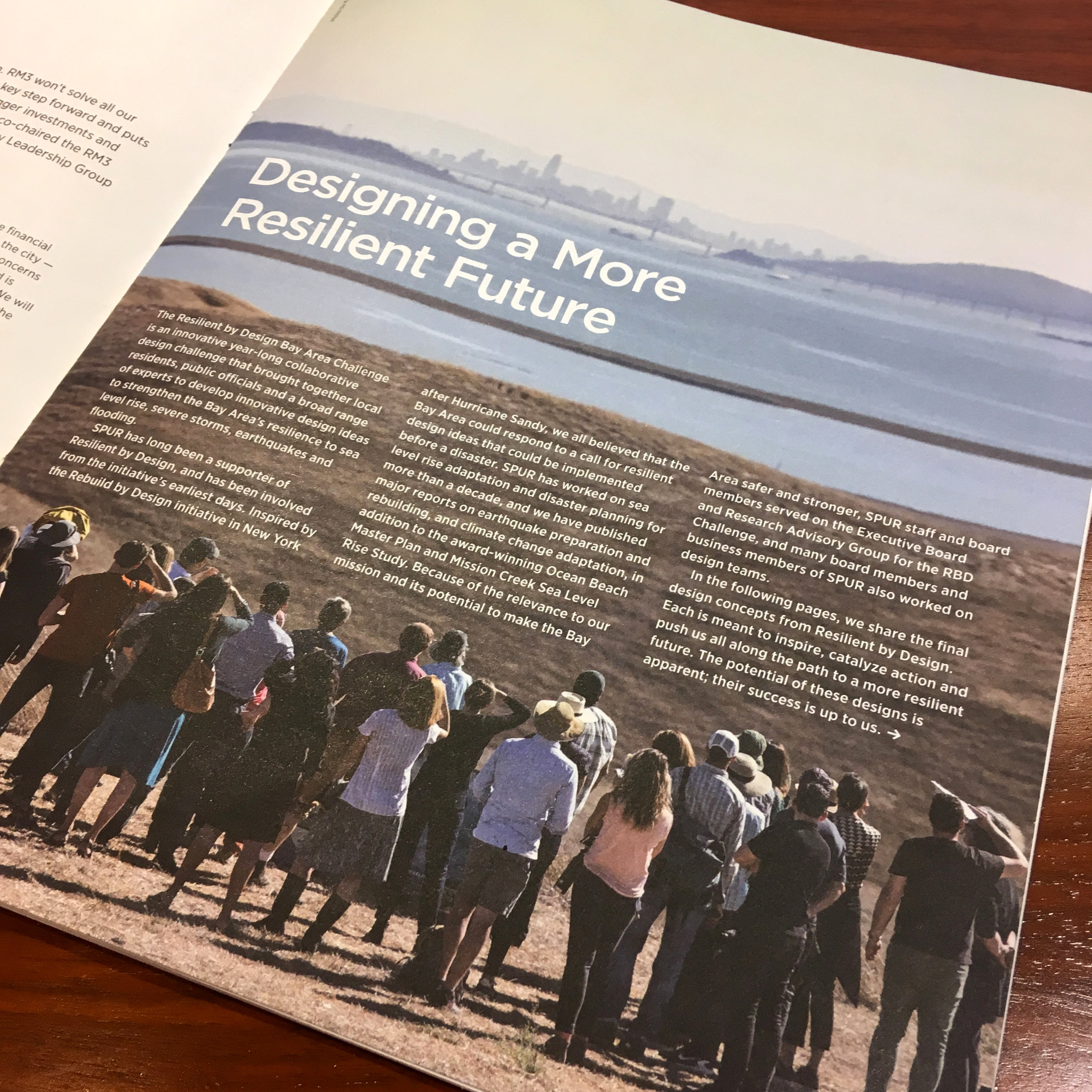 "The Urbanist features articles on the Resilient Bay Area Challenge - July 10, 2018""The Resilient by Design Bay Area Challenge is an innovative year-long collaborative design challenge that brought together local residents, public officials and a broad range of experts to develop innovative design ideas to strengthen the Bay Area's resilience to sea level rise, severe storms, earthquakes and flooding."""
