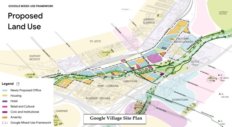 Google mixed-use framework goes public - Framework vision presented at the SAAG public meeting. To see the full presentation visit the San Jose City's website at: https://www.diridonsj.org/saag