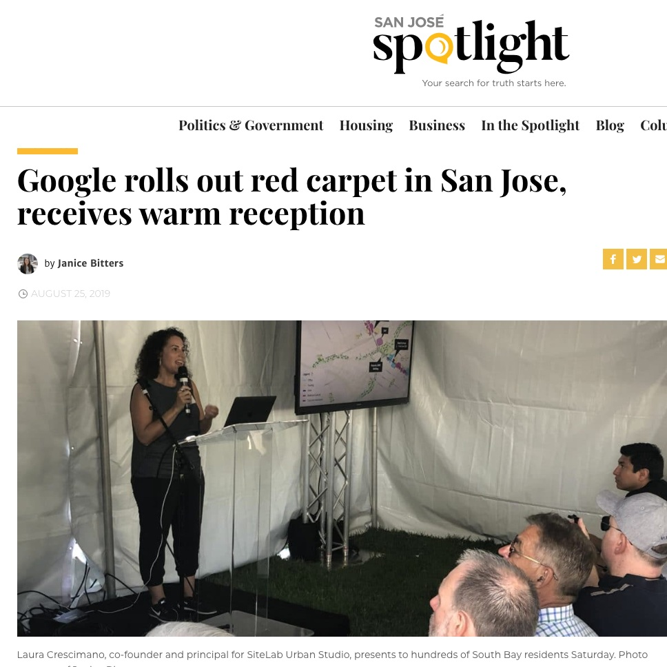 Amazing turnout at San José Public Meeting - Hundreds of South Bay Residents got a glimpse of a future that includes Google in San Jose's downtown core on Saturday.