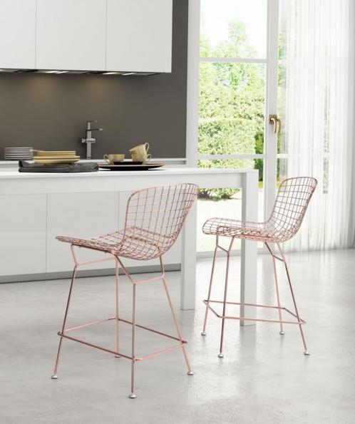Rosegold Wire  Counter Stool |  Photo: Zeo