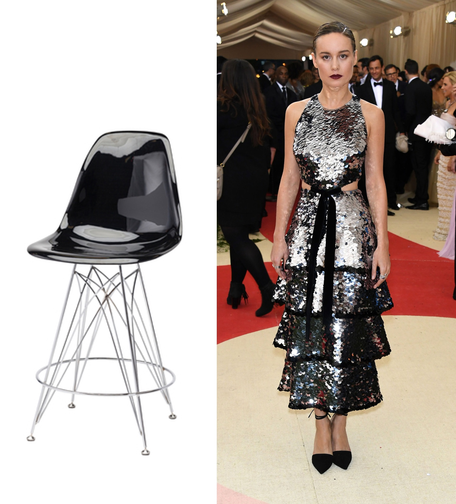 Black Eames  Counter Stool  | Photo: @brielarson