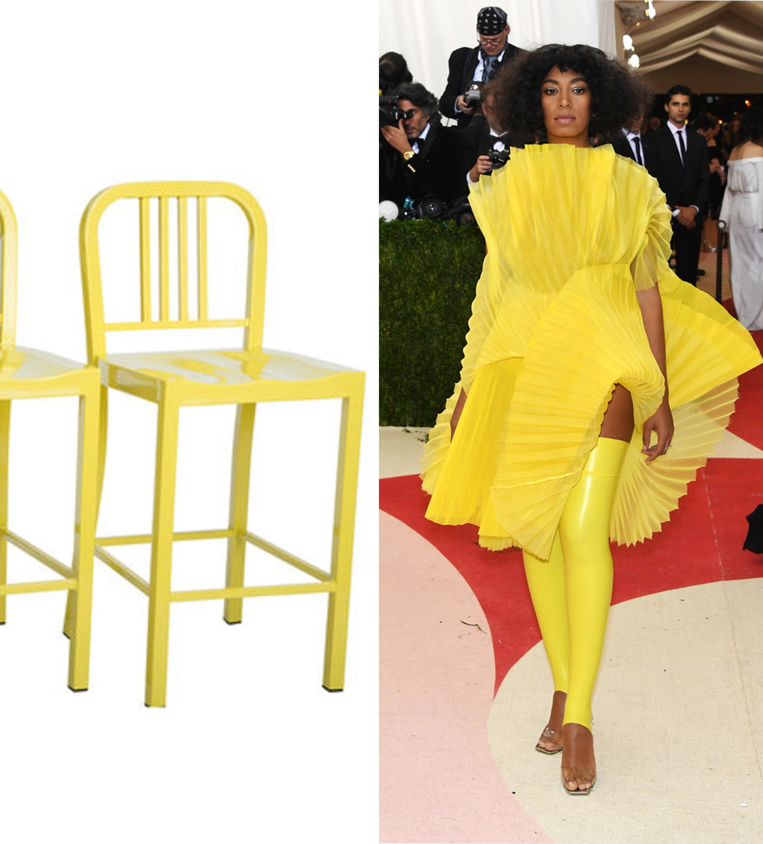 Yellow Metal  Counter Stool  | Photo; @solangeknowles___