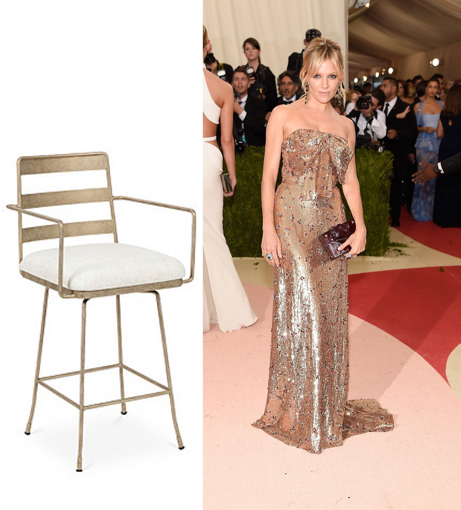 Gold  Counter Stool  | Photo: @ilovesiennamiller