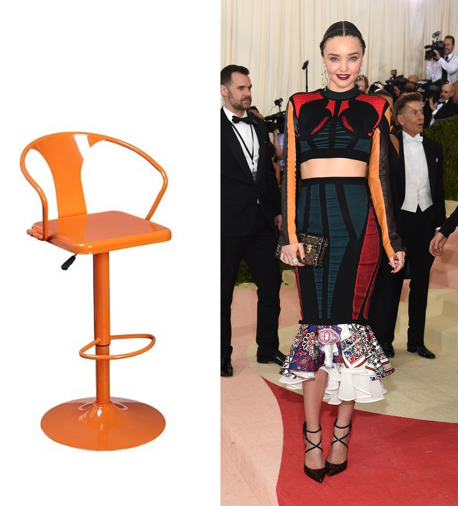 Orange Retro  Counter Stool  | Photo: @mirandakerr