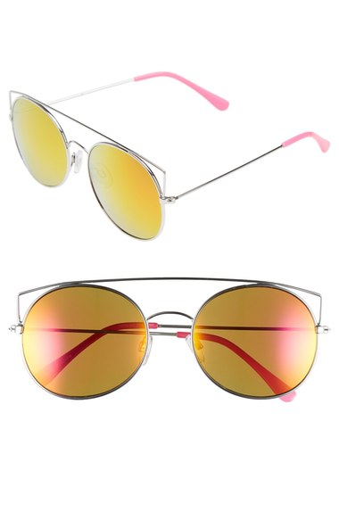 Pink & Yellow  Flat Colored Sunglasses  | Photo: Nordstrom